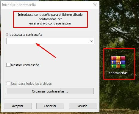 proteger archivos con contraseña en windows 10