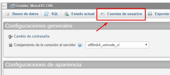 crear nuevo usuario php my admin wordpress