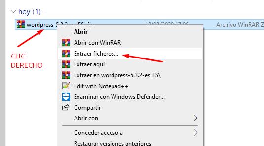 instalar wordpress en wamp