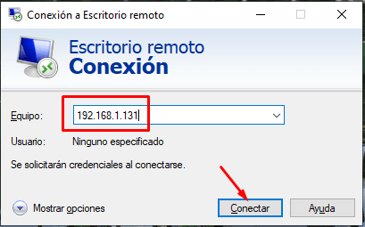conexion escritorio remoto windows 10
