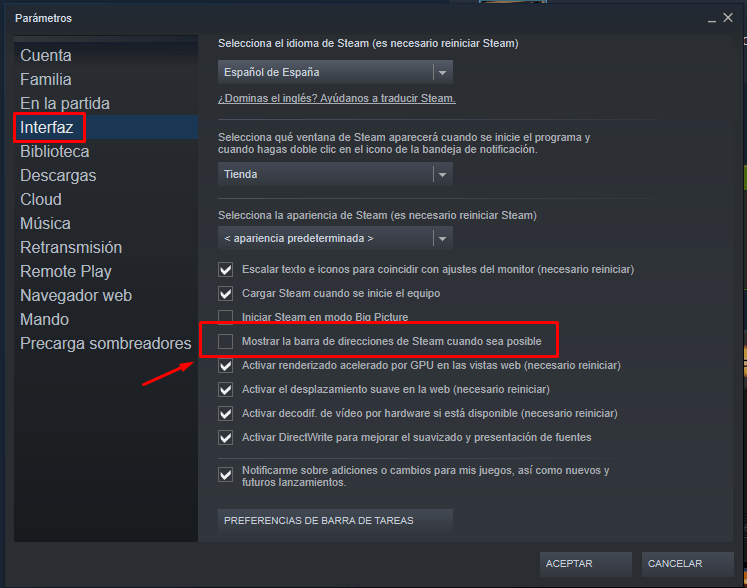 ver la id de steam