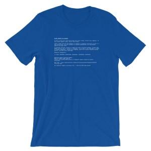 Blue Shirt of Death