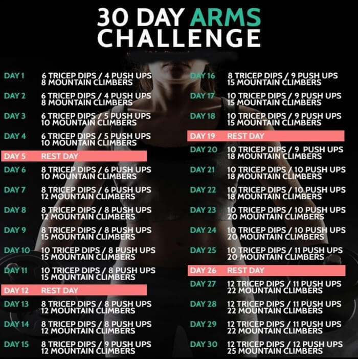30 Day Arm Challenge For Women