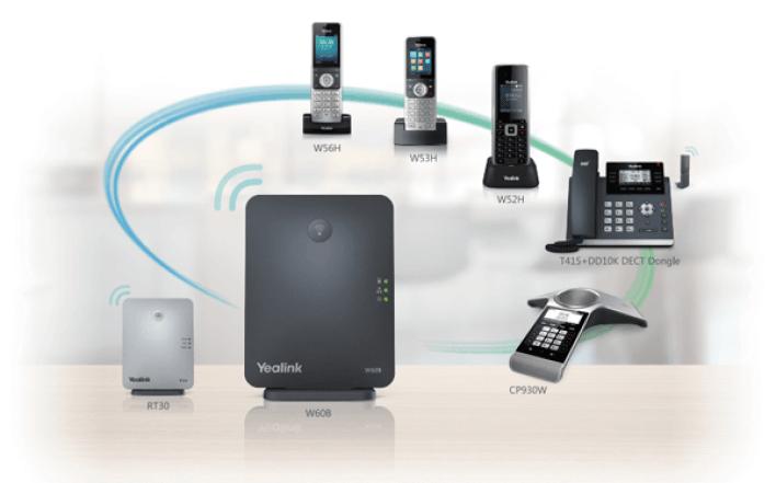 Yealink W60P Cordless DECT IP Phone