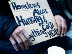 Street Junky Homeless alone Hungry and cold