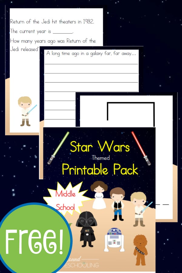 Free Star Wars Unit Study And Printables Middle School Year Round Homeschooling