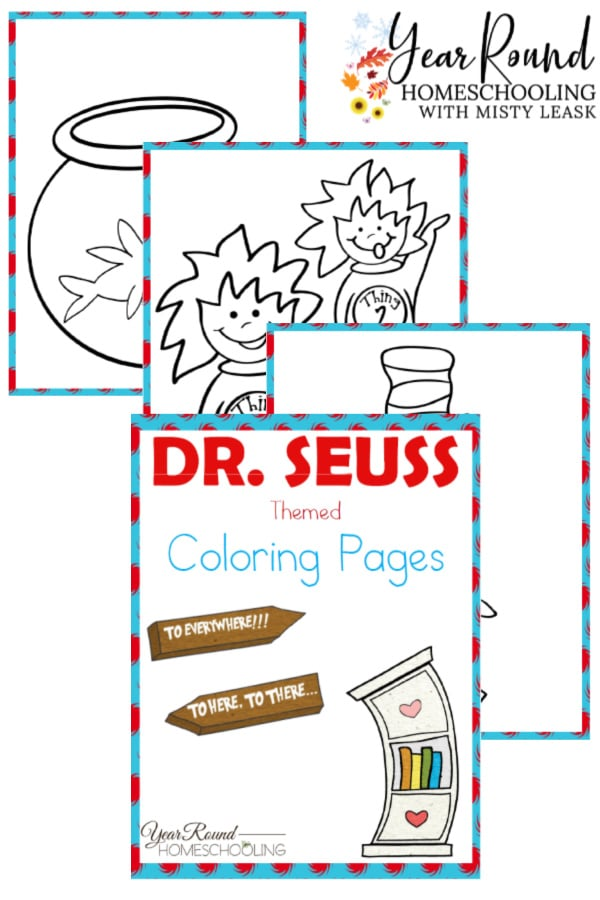 Dr Seuss Coloring Pages Year Round Homeschooling