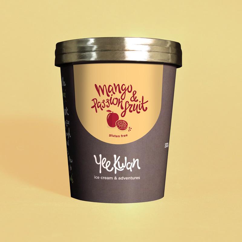 芒果百香果冰淇淋 - Yee Kwan 英國高端手工冰淇淋