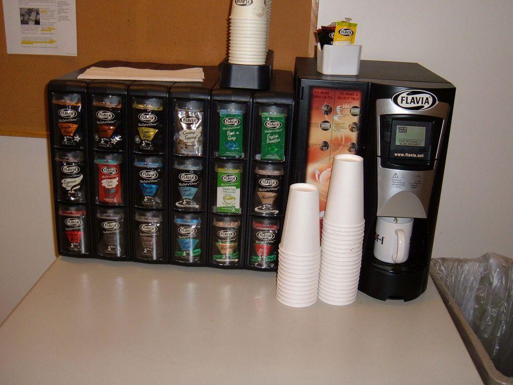 machine cafe et chocolat