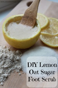 DIY Lemon Oat Sugar Foot Scrub