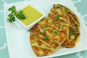 Chicken Schnitzel with Curry Coconut Sauce #TKeveryday