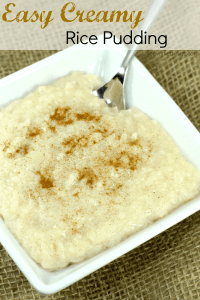 Easy Creamy Rice Pudding