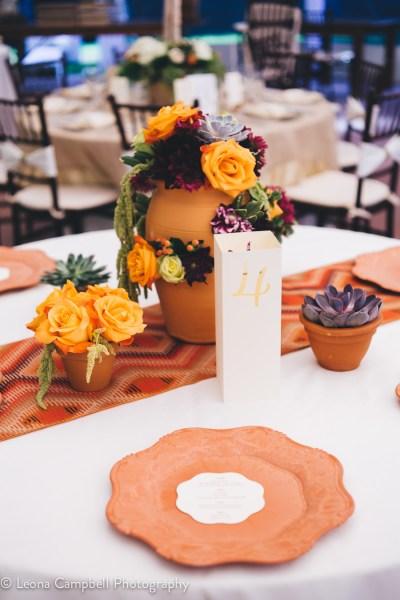 Menu and Table Numbers at the Big Fake Wedding