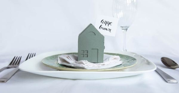 Paper House Box as Place Card