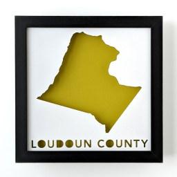 Framed map of Loudoun County Virginia