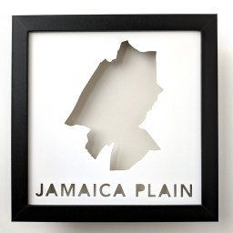 Map of Jamaica Plain, Boston Neighborhood