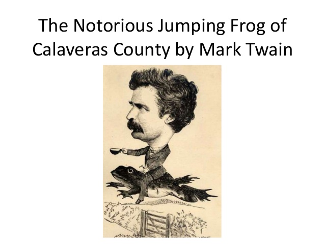 הצְפַרְדֵּעַ המקפצת המפורסמת ממחוז קלווראס – הסיפור המפורסם הראשון של מרק טוויין בתרגום אבי גולדברג