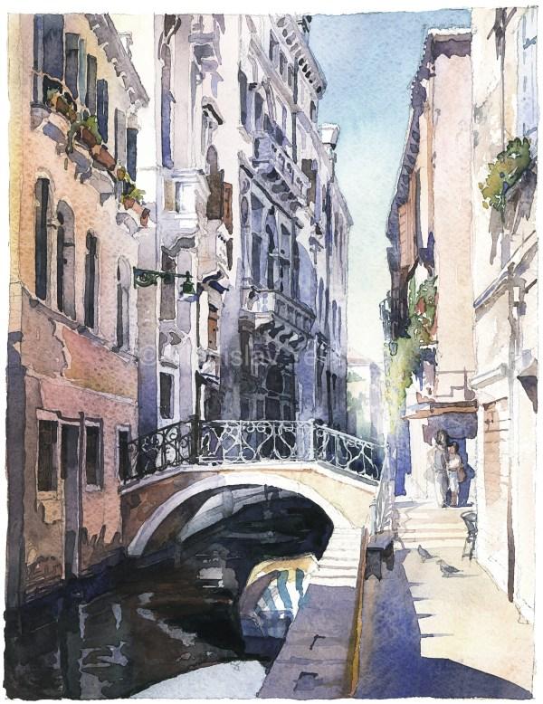 Landscape Watercolor Watercolour Painting