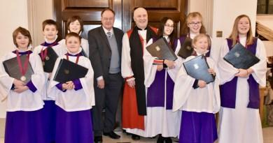 Chingford choristers awarded Silver 'Bishops' Chorister Award'