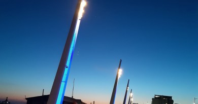 Lights stay blue on seafront – but DON'T go and see for yourselves