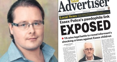 Yellow Advertiser's Shoebury sex ring investigation in the frame again as Charles Thomson is shortlisted for Private Eye Paul Foot Award