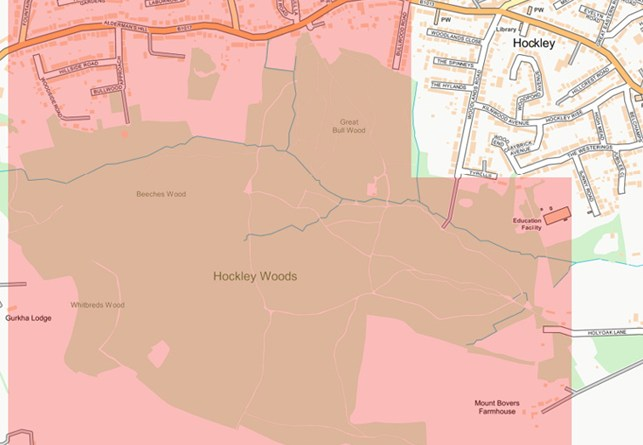 Dispersal order for Hockley Woods to prevent illegal rave