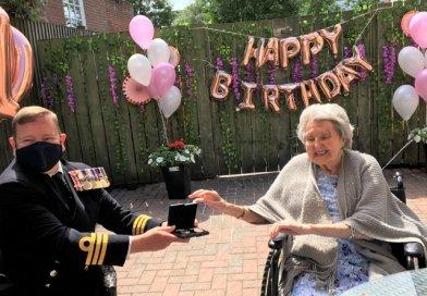 Former Wren finally gets her war medals as surprise 100th birthday present