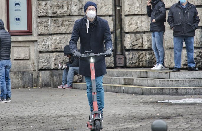 Police target e-scooter riders in public
