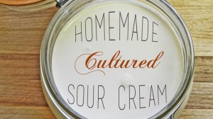 Homemade Cultured Sour Cream