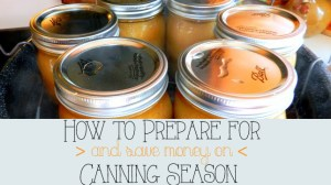 How to Prepare for {and Save Money On!} Canning Season