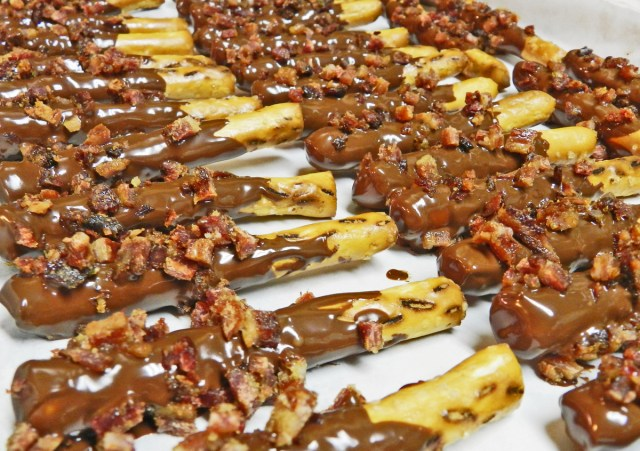 yellow birch hobby farm- candied bacon pretzels