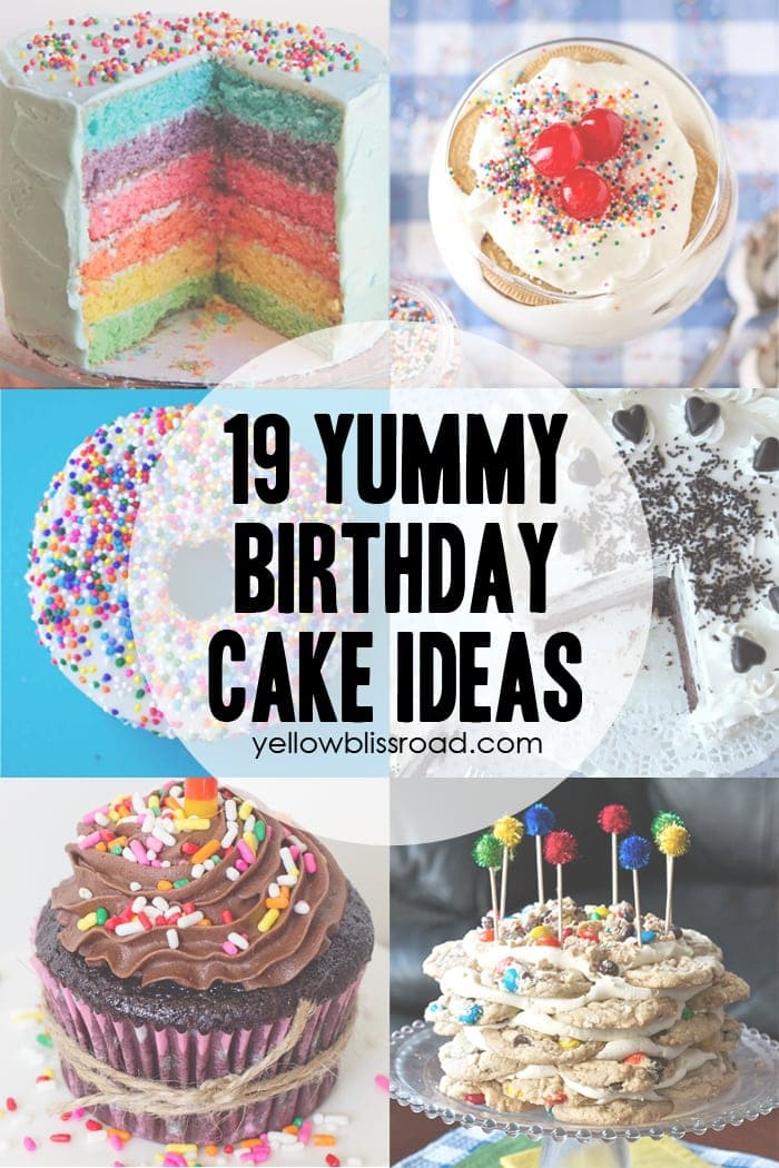 37 Birthday Printables & Cakes And A GIVEAWAY! Yellow