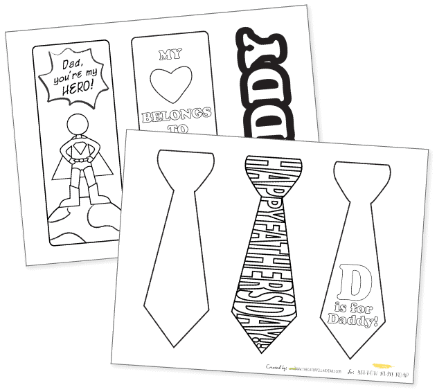 Printable Bookmark Father's Day Gift