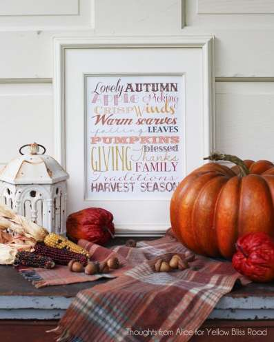 Autumn Season Free Printable Subway Art
