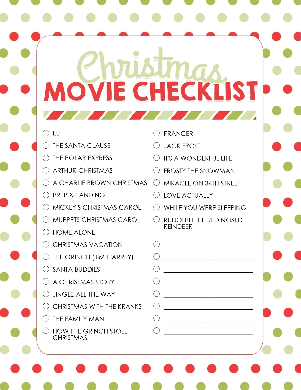 Christmas Movie Night With Free Printables Best Christmas Movies