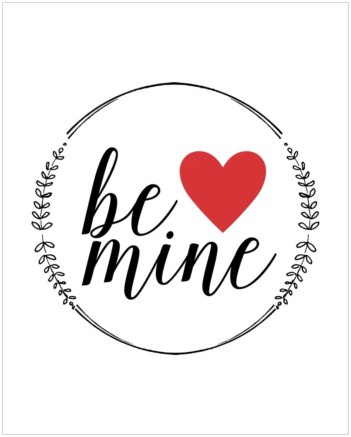 Be Mine Free Printable Valentine