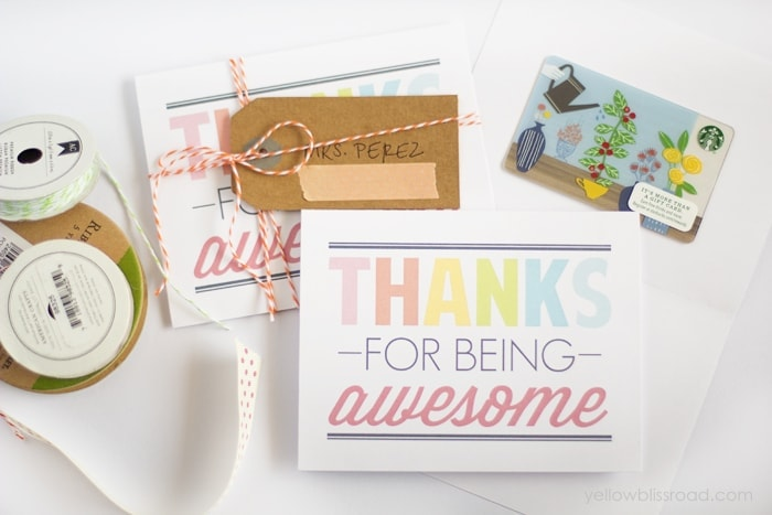 Free Printable Thank You Notes Yellow Bliss Road
