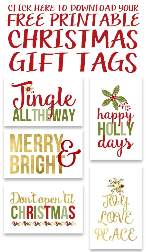 Free Printable Christmas Gift Tags Yellow Bliss Road