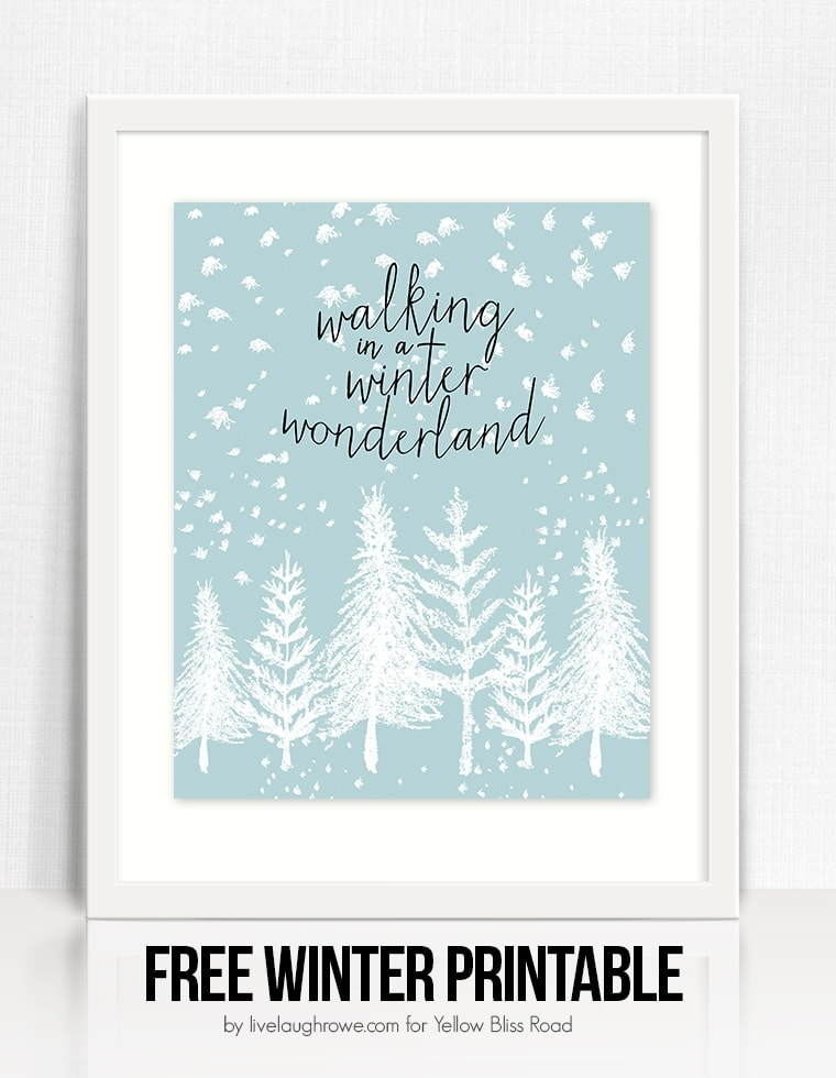 Winter Wonderland Free Printable Yellow Bliss Road
