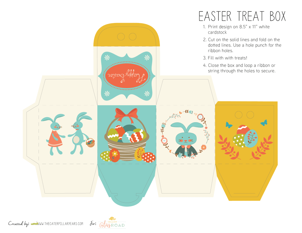 Free Printable Easter Treat Boxes