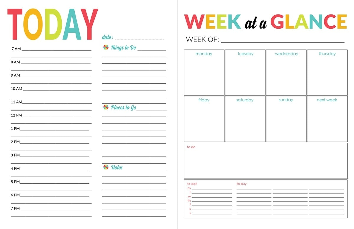 School Year Organizer Amp Planner Printable Pack
