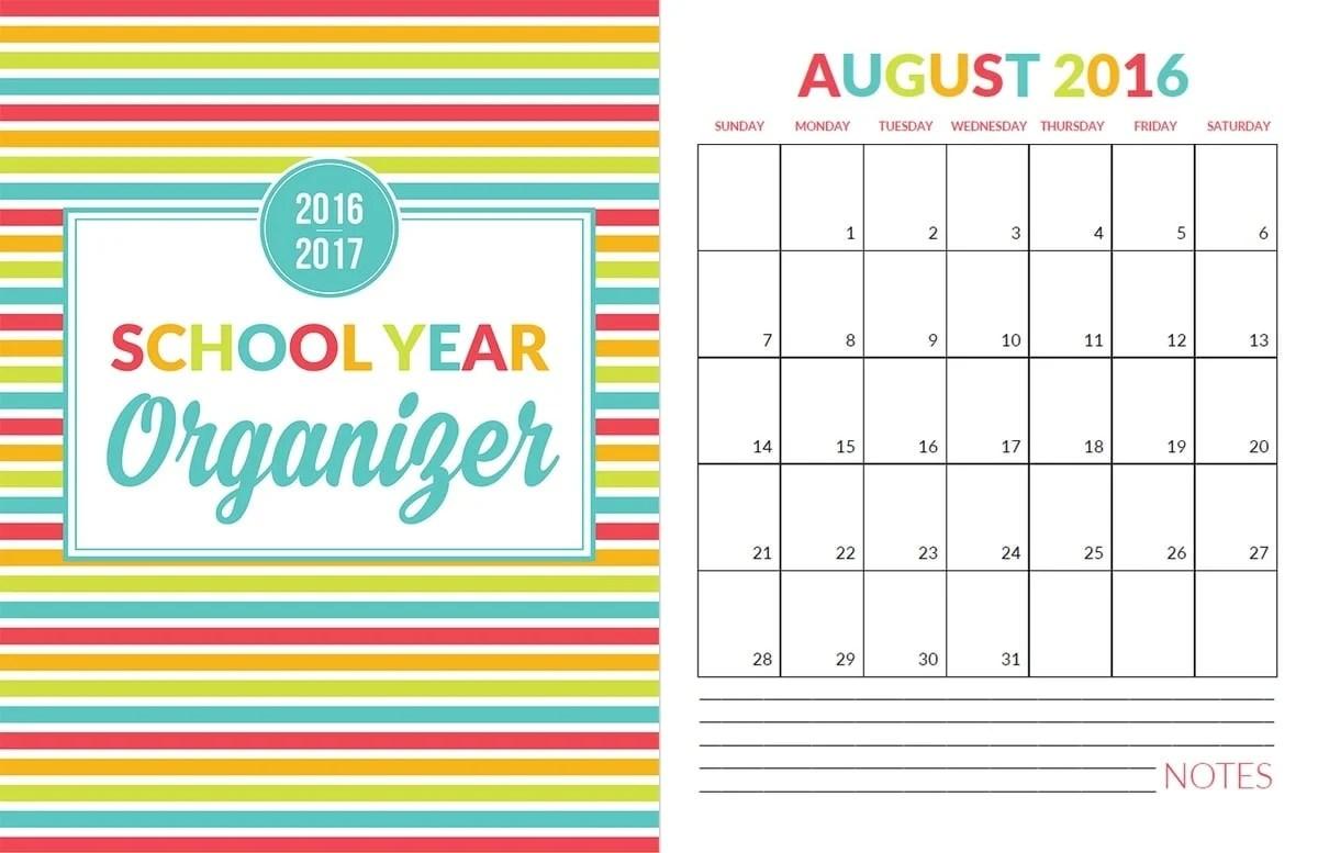 School Year Organizer Amp Planner Printable Pack