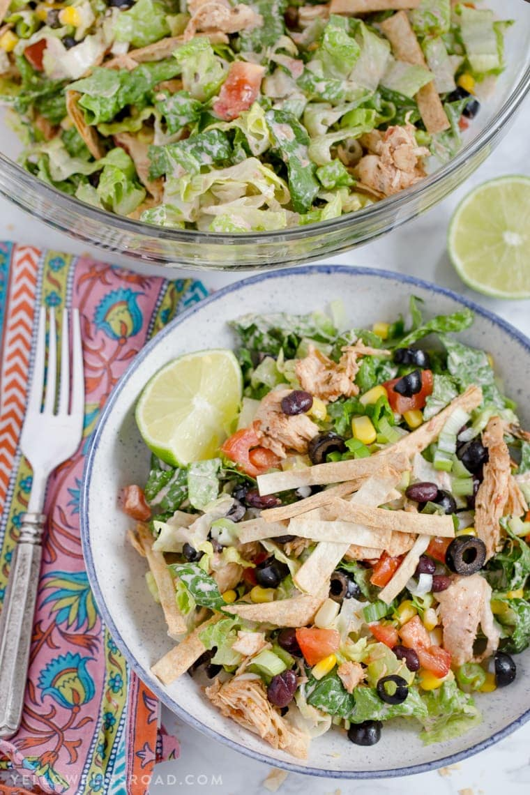 Chicken Taco Salad {Yellow Bliss Road}