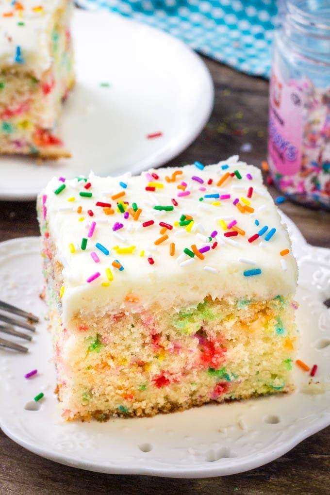 Funfetti Sheet Cake Yellow Bliss Road