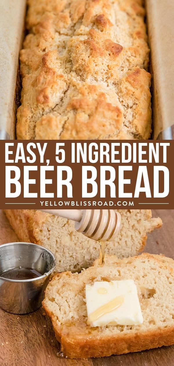 Easy Beer Bread Recipe (Quick Bread) | YellowBlissRoad.com