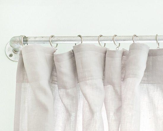 diy curtain rods aka curtain pipes