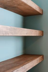 DIY Floating Wood Shelves! - Yellow Brick Home