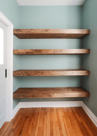 DIY Floating Wood Shelves! | Yellow Brick Home