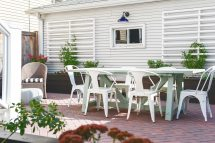 Patio Makeover Yellow Brick Home