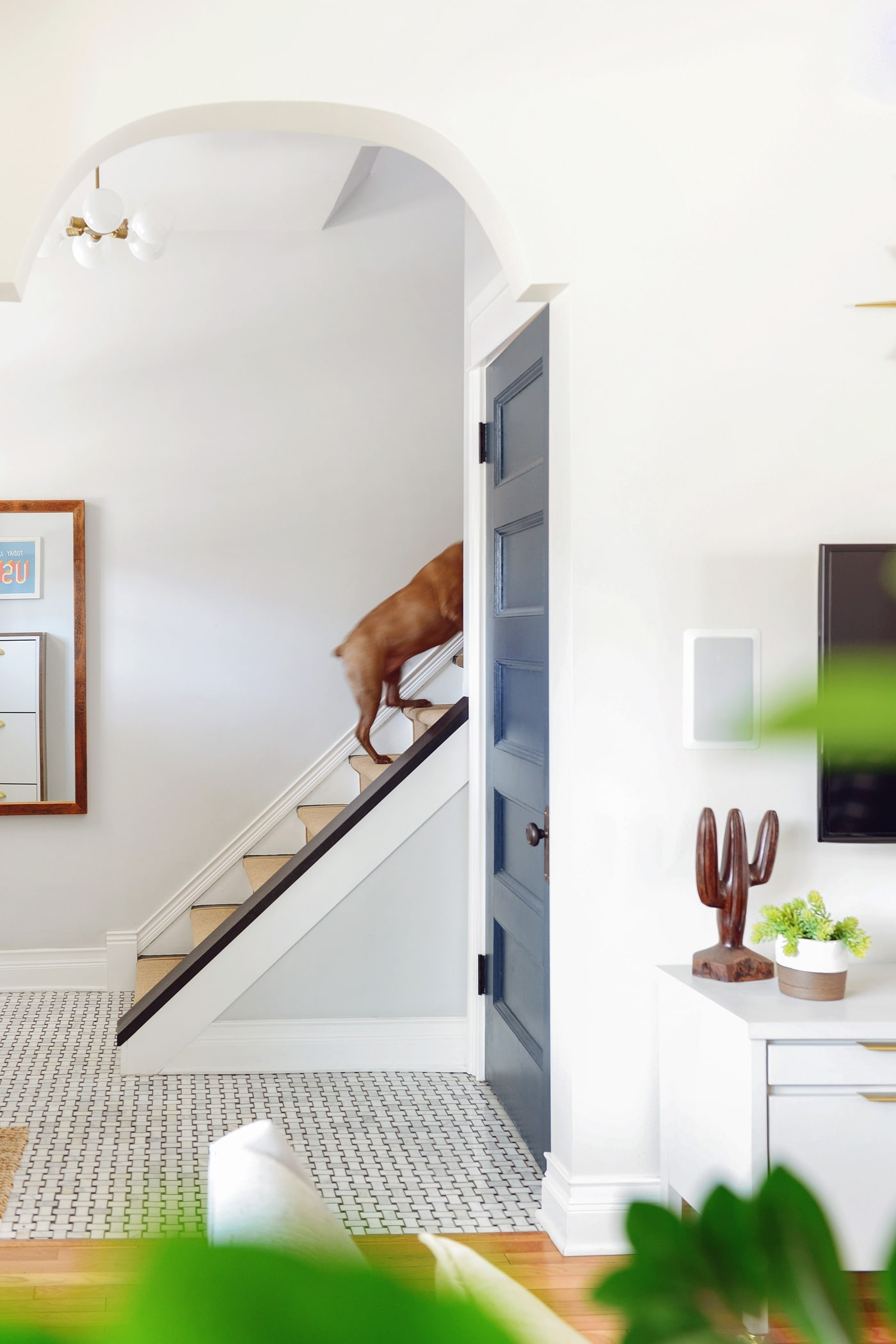 How And Why We Added A Stair Runner Yellow Brick Home | Black And White Stair Runners | Staircase | Hallway | Cool | Diy | Jute
